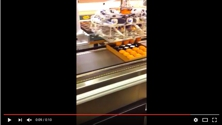Vaccon CDF 500H Air Amplifier moves cupcakes from a baking line to packaging line in commercial bakery