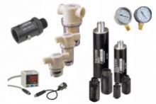 Vacuum accessories including silencers, check valves, in-line filters, vacuum gauges, vacuum switches, vacuum sensors, and corsets